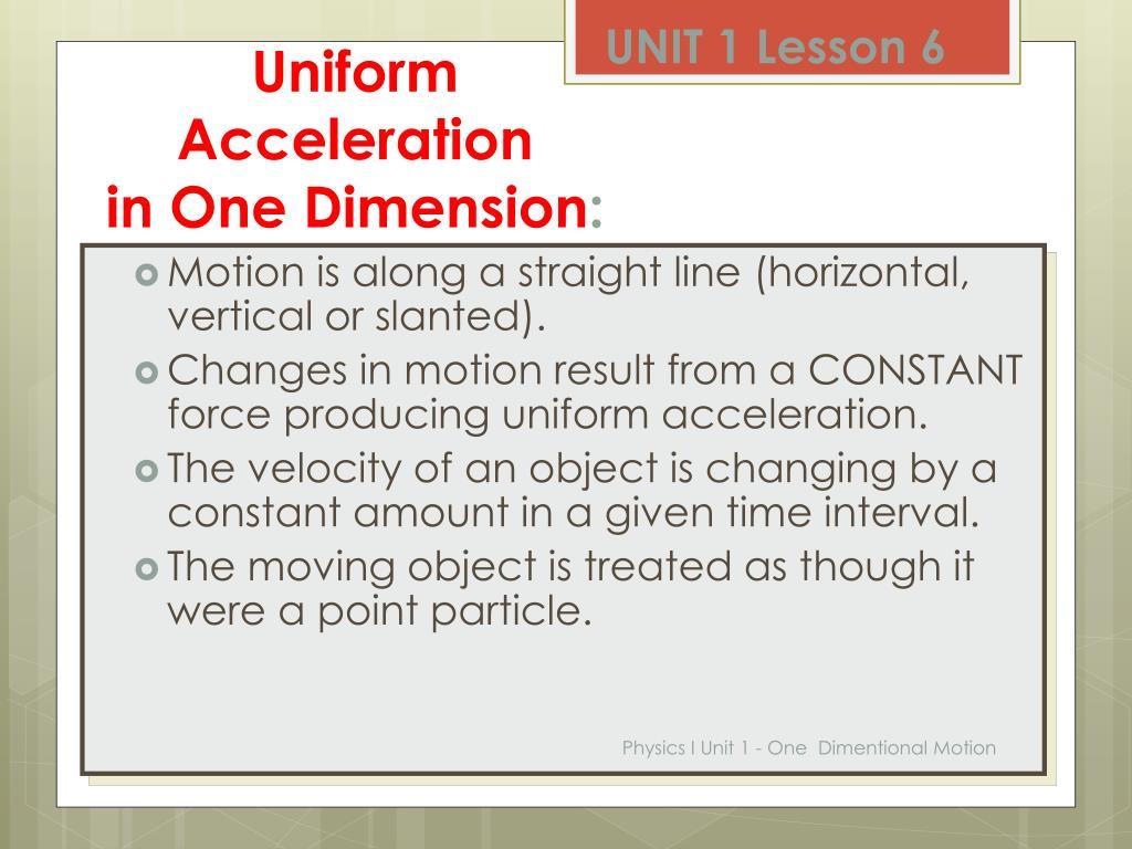 PPT - PHYSICS I UNIT 1 Motion PowerPoint Presentation - ID