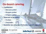 on board catering