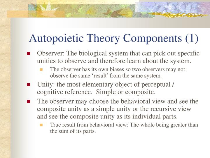 Autopoietic Theory Components (1)