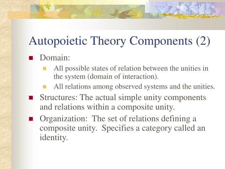 Autopoietic Theory Components (2)
