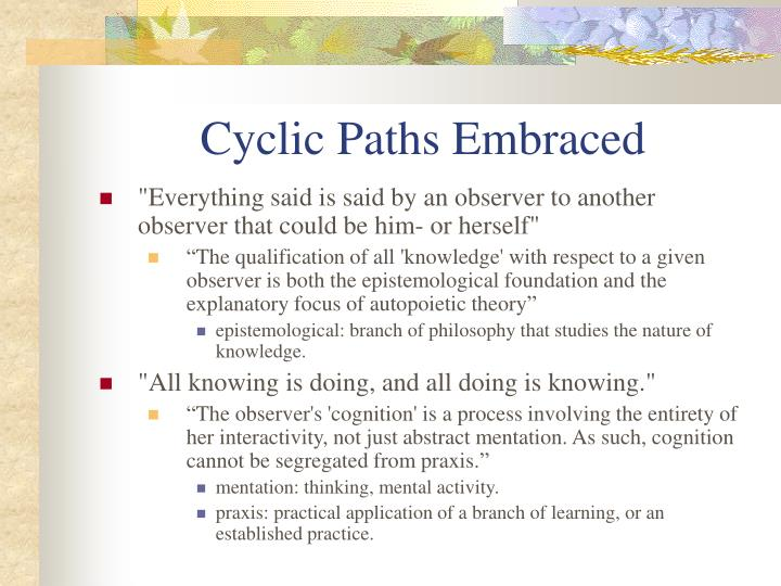Cyclic Paths Embraced