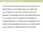 president gauck in 5 mei lezing