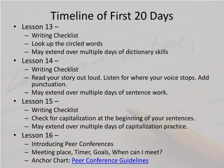 Timeline of First 20 Days