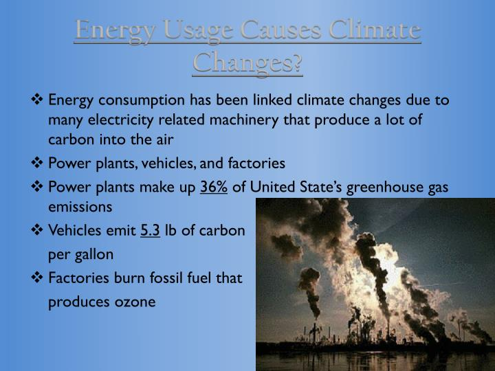 Energy Usage Causes Climate Changes?
