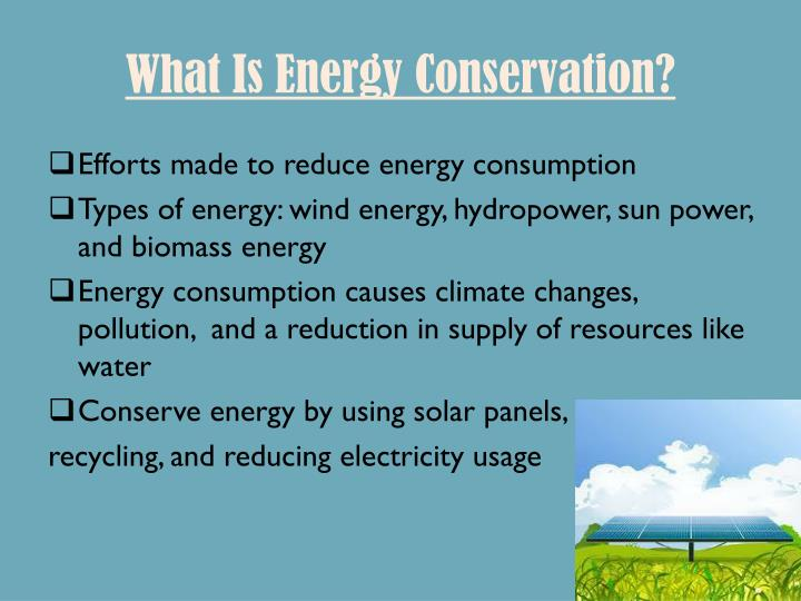 What is energy conservation