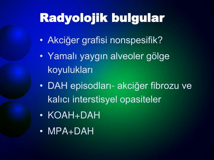 Radyolojik bulgular