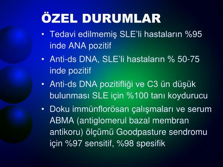 ÖZEL DURUMLAR