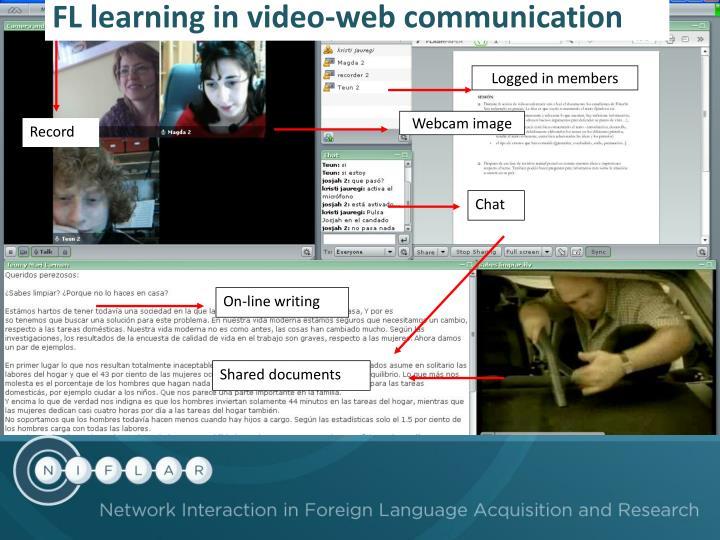 FL learning in video-web communication