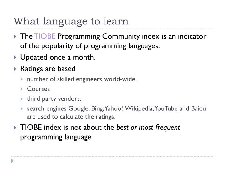 What language to learn