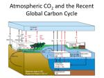 atmospheric co 2 and the recent global carbon cycle