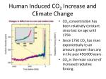 human induced co 2 increase and climate change