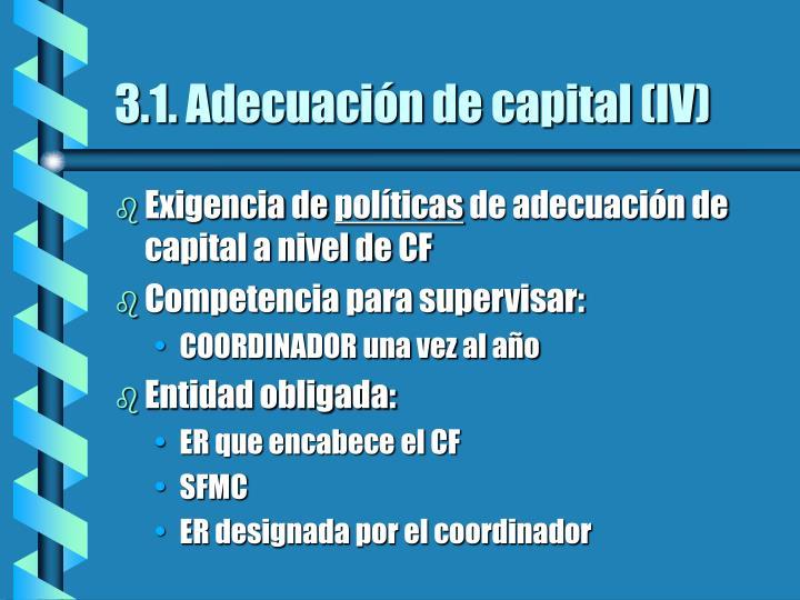 3.1. Adecuación de capital (IV)