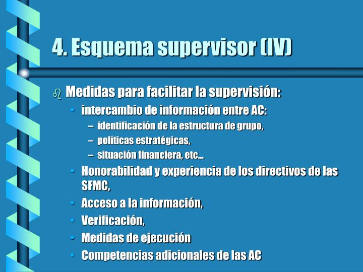 4. Esquema supervisor (IV)