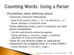 counting words using a parser
