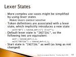 lexer states