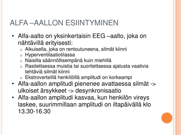 ALFA –AALLON ESIINTYMINEN