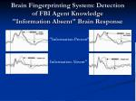 brain fingerprinting system detection of fbi agent knowledge information absent brain response