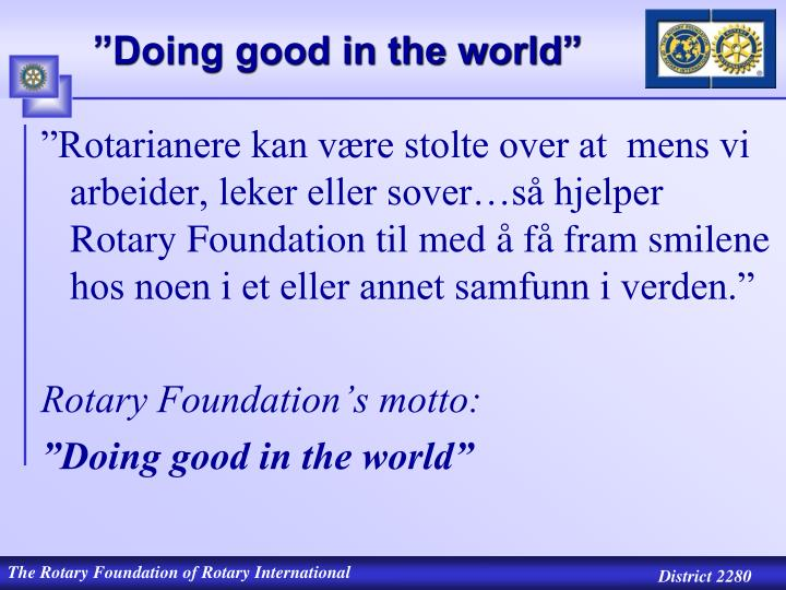 Doing good in the world