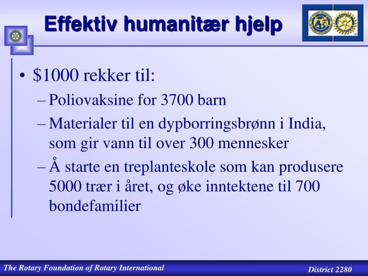 Effektiv humanitær hjelp