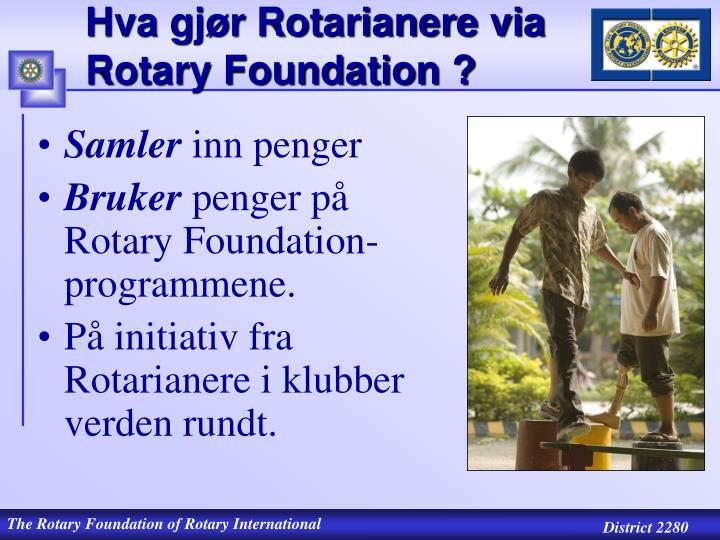 Hva gj r rotarianere via rotary foundation