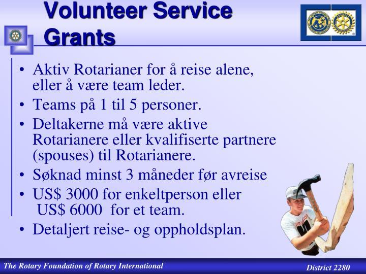 Volunteer Service Grants
