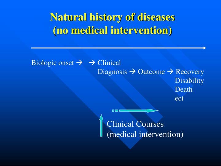 Natural history of diseases