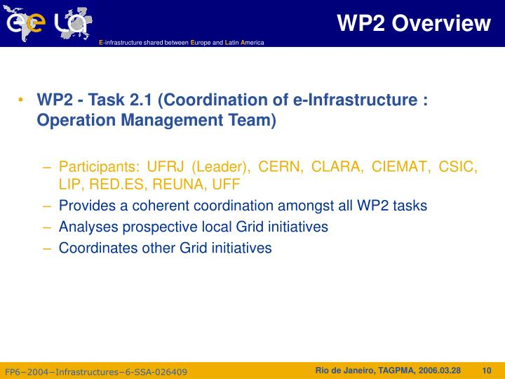 WP2 Overview