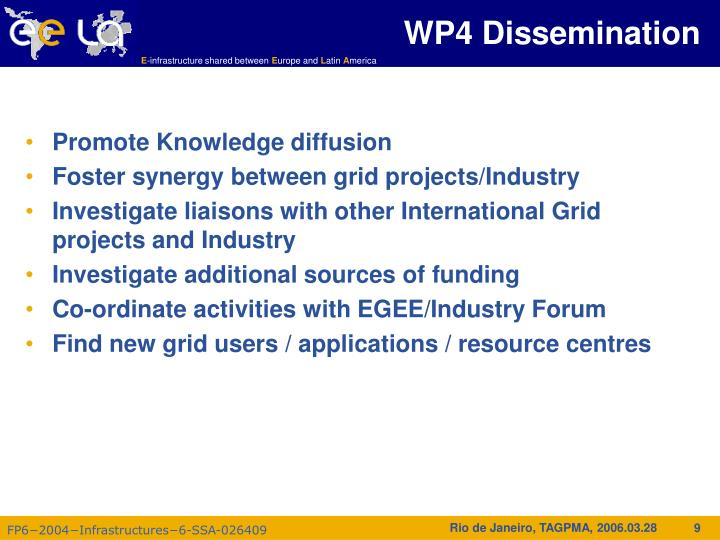 WP4 Dissemination