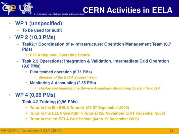 CERN Activities in EELA