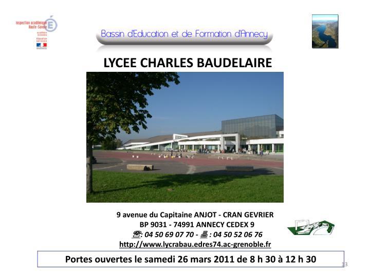 LYCEE CHARLES BAUDELAIRE