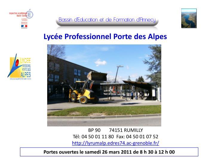 Lycée Professionnel Porte des Alpes