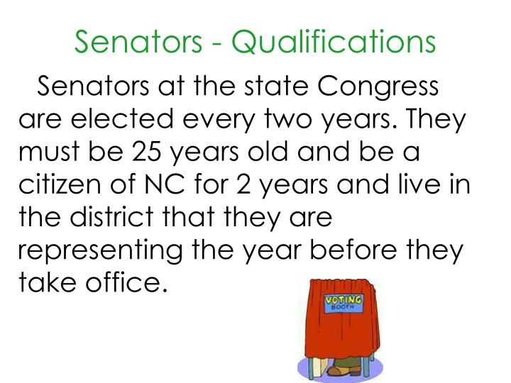 Senators qualifications