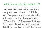 which leaders are elected
