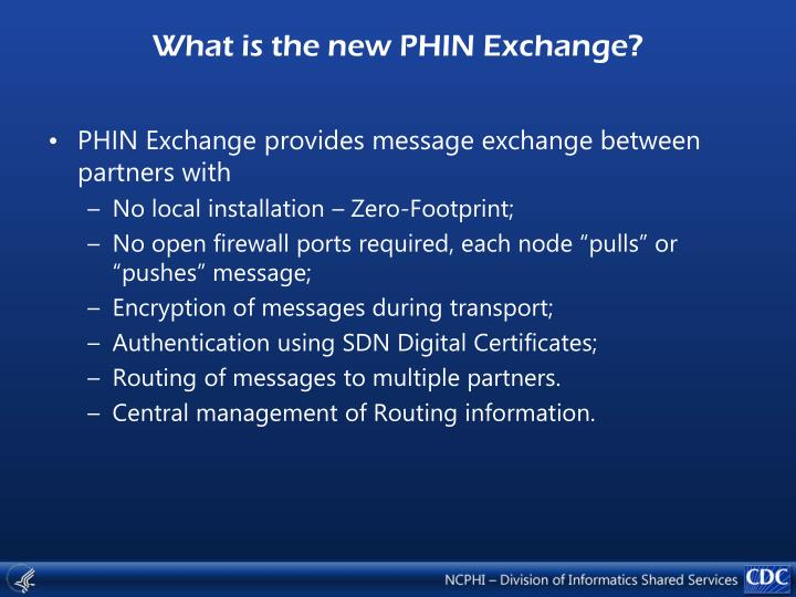 What is the new PHIN Exchange?