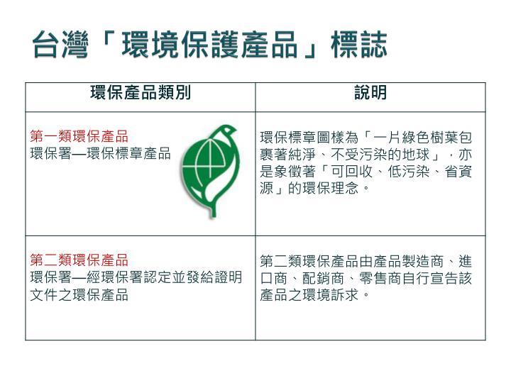 台灣「環境保護產品」標誌