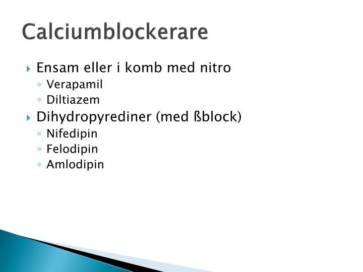 Calciumblockerare
