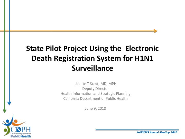 state pilot project using the electronic death registration system for h1n1 surveillance n.