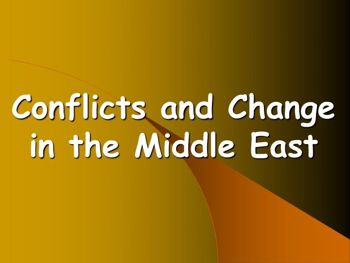 changes in the middle east