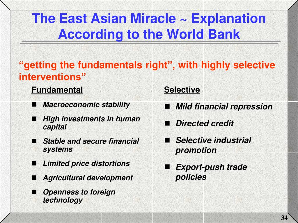 World bank the east asian miracle