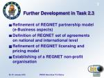 further development in task 2 3