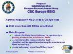 proposal establishment of an european economic interest group csc europe eeig