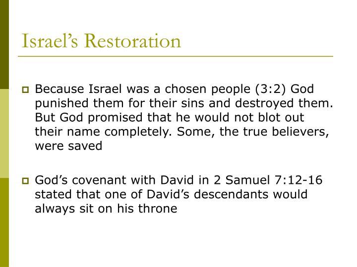 Israel's Restoration