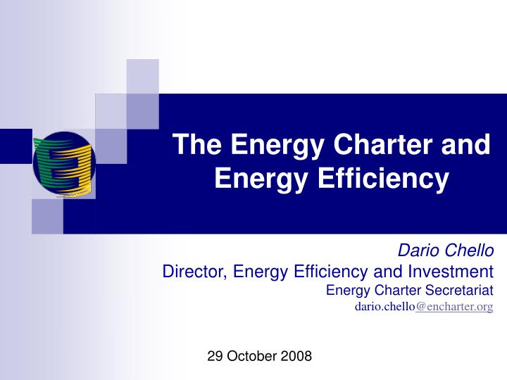 the energy charter and energy efficiency n.