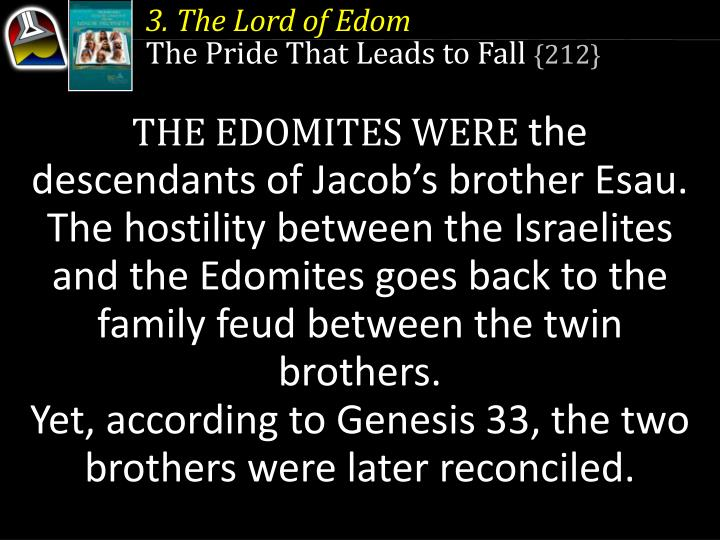 3. The Lord of Edom