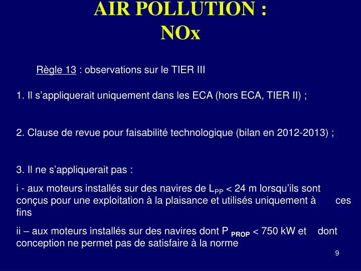 AIR POLLUTION :