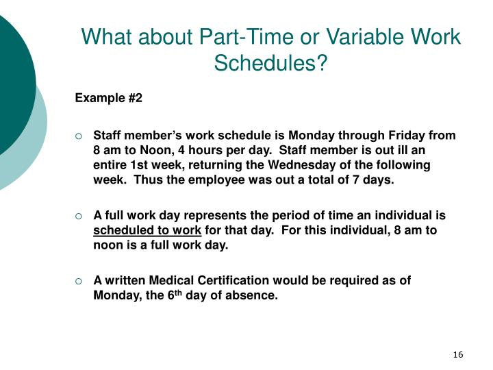 What about Part-Time or Variable Work Schedules?