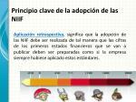 principio clave de la adopci n de las niif1