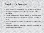 pestalozzi s precepts