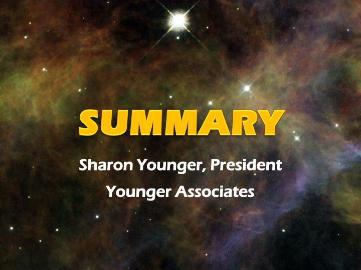 Sharon Younger, President