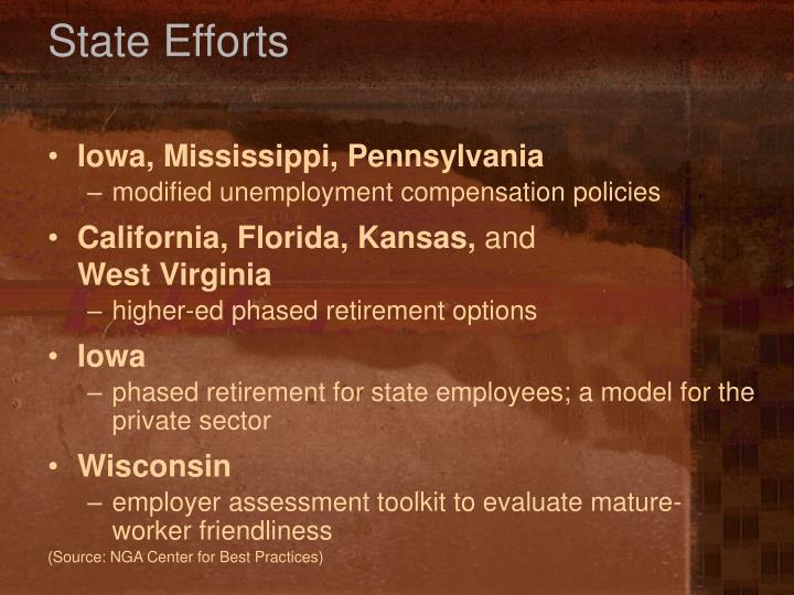 State Efforts